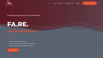 FA.RE. S.r.l. è un'azienda di consulenza per impiantisti per cui abbiamo rinnovato il sito.