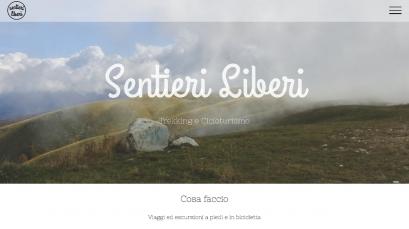 Sentieri Liberi è il sito che abbiamo realizzato per una guida ambientale escursionistica.